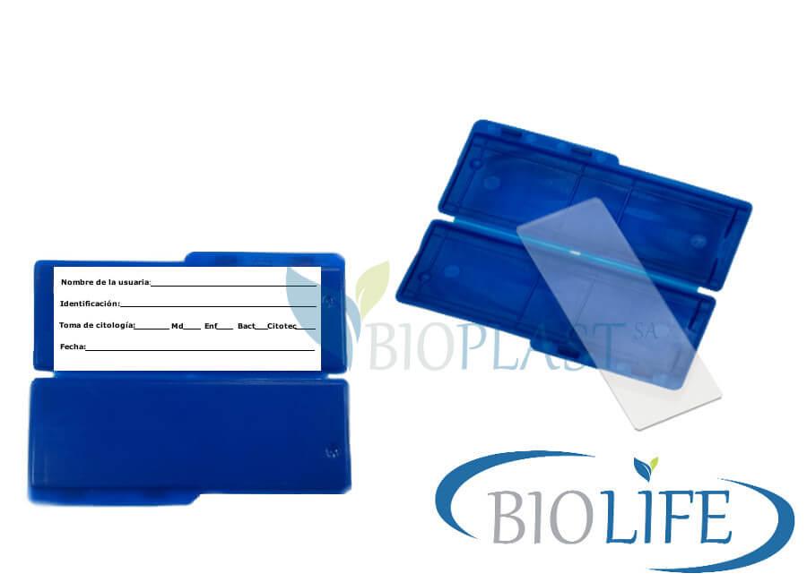 Estuche portalamina-Laboratorio clinico- Bioplast S.A.
